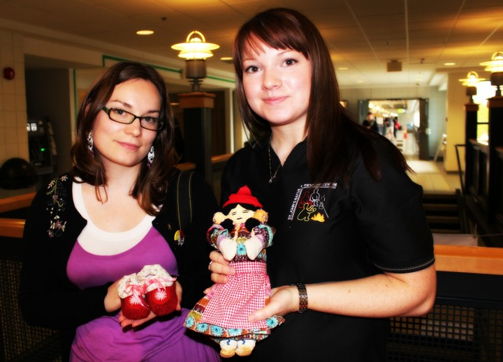 Tea dolls are an example of Innu traditional craft work.