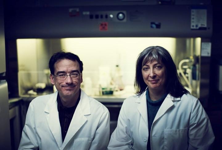 Drs. Hélène Paradis and Robert Gendron study neovascular retinal diseases.
