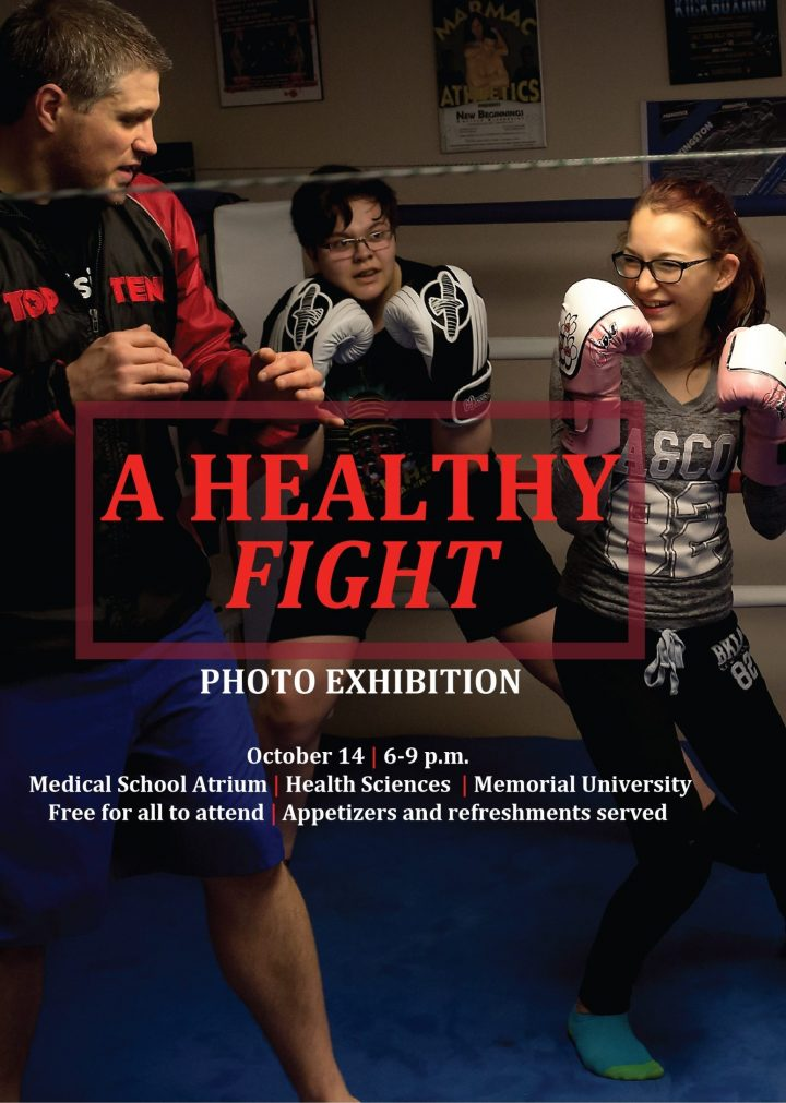 A poster for the A Healthy Fight exhibit.