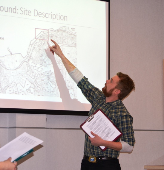 Chris Ratcliffe presents on waterfront development