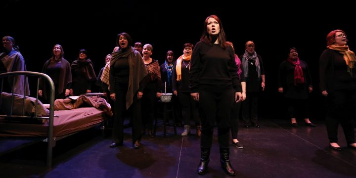 Lady Cove Women's Choir presents No Matter What by Jonathan Munro, Newfoundland's first choral theatre work for all female voices, a community project funded by the Bruneau Centre for Excellence in Choral Music in April 2015.