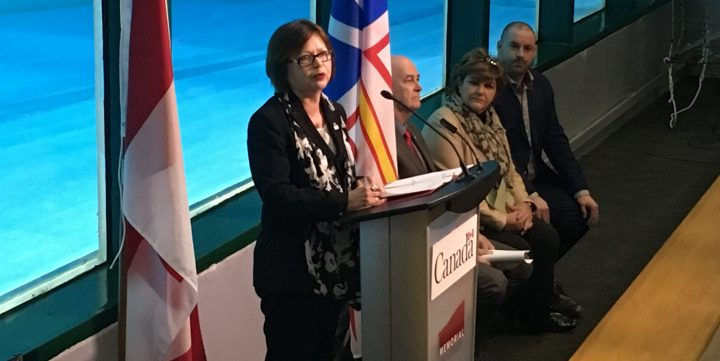Judy Foote at the Marine Institute on March 10.