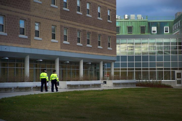 CEP officer on patrol at Macpherson College.