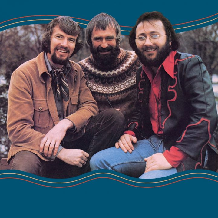 Colour photo for CD back cover of three Ryans Fancy band members, Denis Ryan, Dermot O'Reilly and Fergus O'Byrne