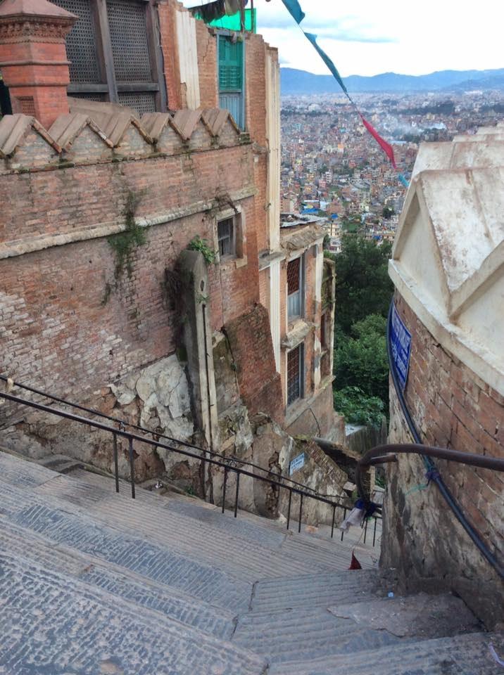 A view of the city of Kathmandu, Nepal.