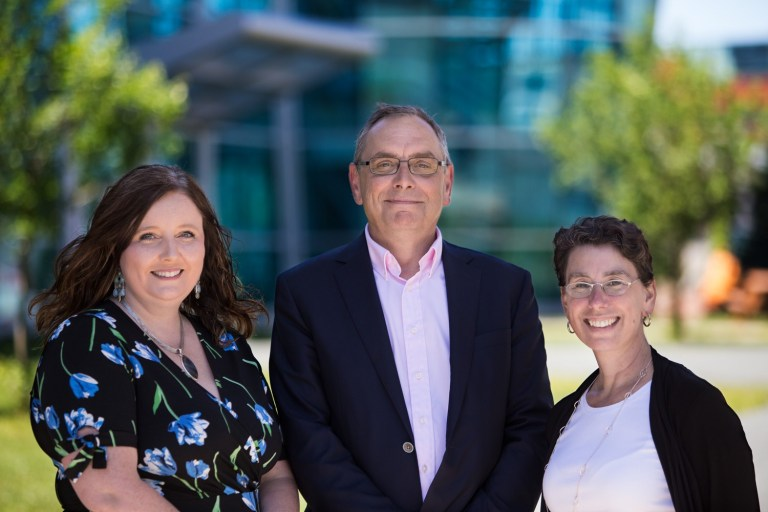 From left, Dr. Jennifer Massey, Rob Wells, and Dr. Aimee Surprenant.