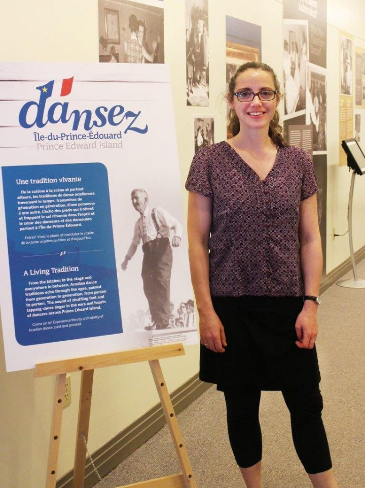 Dr. Meghan Forsyth with Dansez museum exhibition, 2016