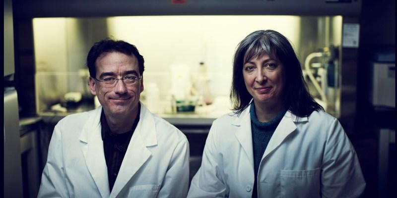 Drs. Robert Gendron and Hélène Paradis.