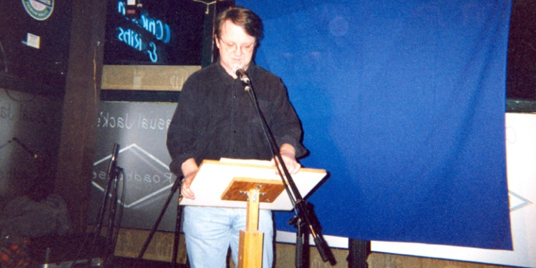 NL poet Des Walsh has read at the March Hare for 30 years