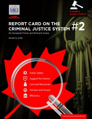 Cover image of report on Canadas justice system