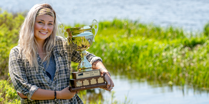 Megan Meadus is the winner of the 2018 Fail Tale Cup.