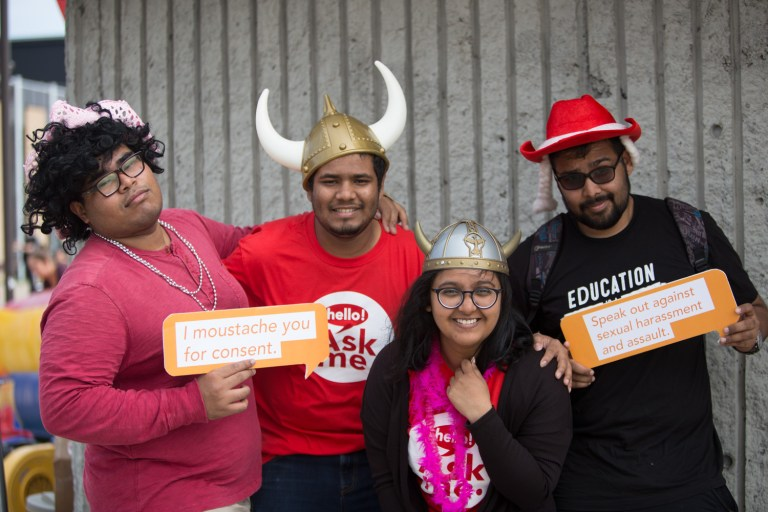 Sexual Harassment Office Welcome Week 2017 photo booth