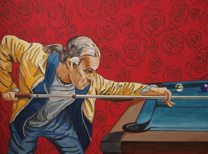 Gordon at the Table, acrylic on canvas, 30 x 40, 2017