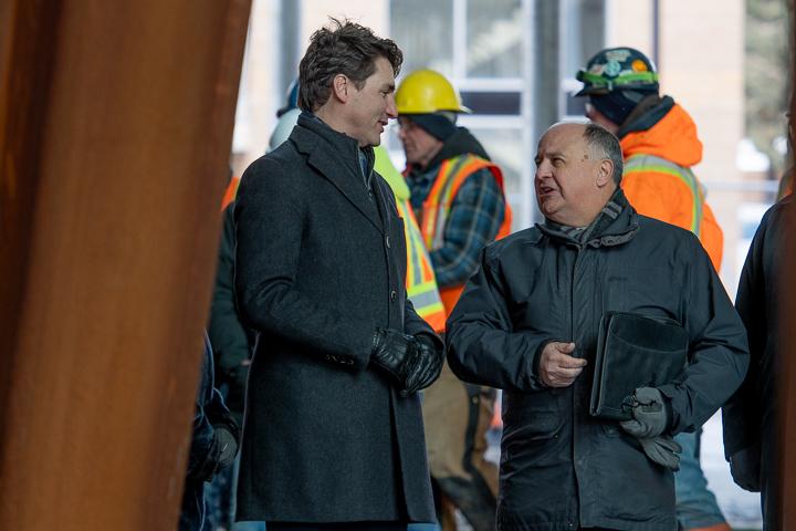 Prime Minister Trudeau with President Gary Kachanoski.