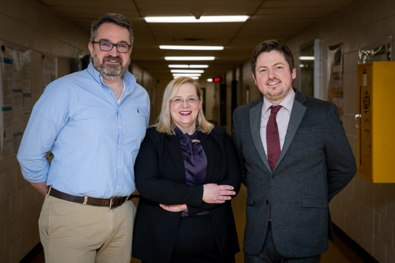 From left are Drs. Christopher Kozak, Christina Bottaro and Michael Babechuk.