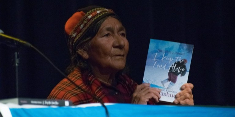 Elder Dr. Tshaukuesh (Elizabeth) Penashue – an honorary degree recipient from Memorial – released her new memoir during the forum.