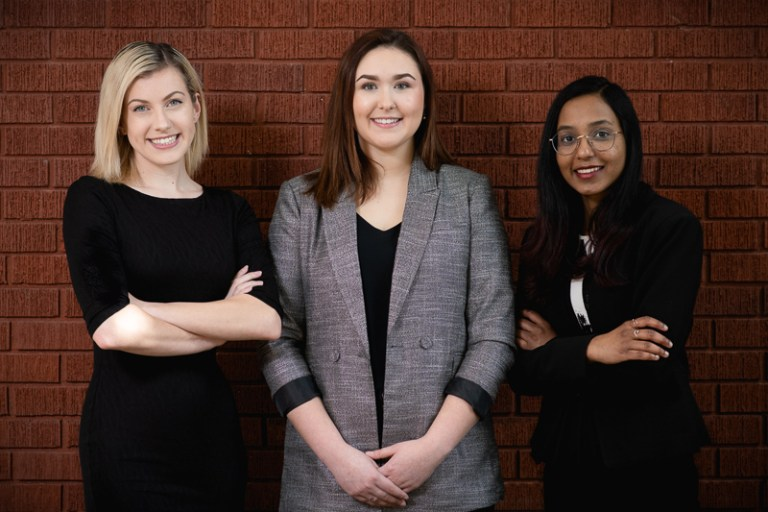 Pictured left to right are Kristen Murray, Robyn Budgell and Nethmini Hapuarachchige, members of the 2020 Business Day committee.
