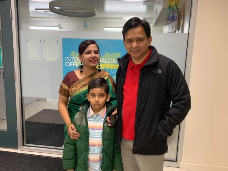 Nadia Sarwar, Mohammad Haque, and their son Aalif