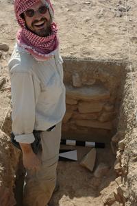 Dr. Milo Nikolic at a dig site