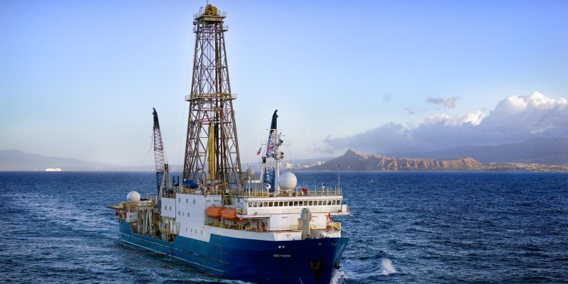 The drilling vessel JOIDES Resolution has been the primary platform for International Ocean Discovery Program expeditions since 1985.