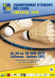 Championnat Europe Badminton 2014 Amiens