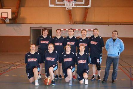 L'équipe d'Excellence Régionale Féminine des Cheminots Amiens Sud Basket Ball
