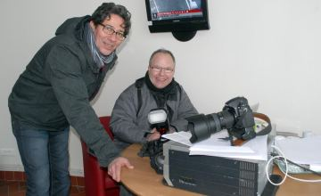objectif Jean-Jacques Blond (au premier plan) et Jacques Grossemy sont les nouveaux photographes de l'hippodrome d'Amien