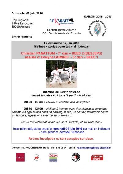 2016 - 06 - 05 Manifestation karaté défense