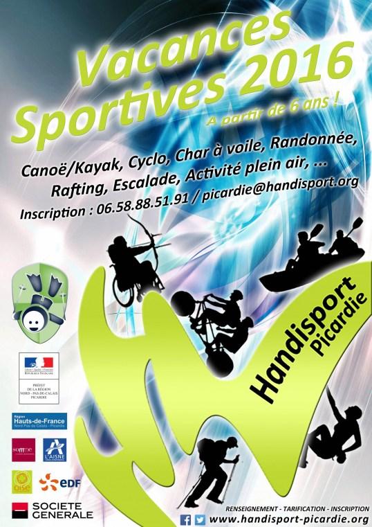 Affiche Officielle - Vacances Sportives 2016