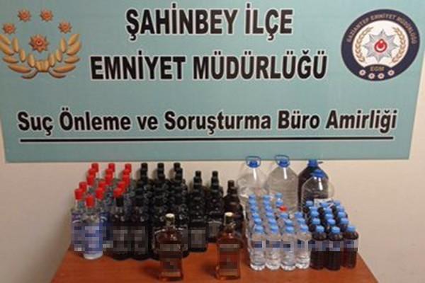 Gaziantep'te 95 litre kaçak alkol ele geçirildi