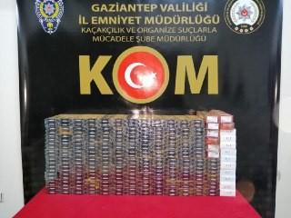 Gaziantep'te 3 bin 290 paket gümrük kaçağı sigara ele geçirildi