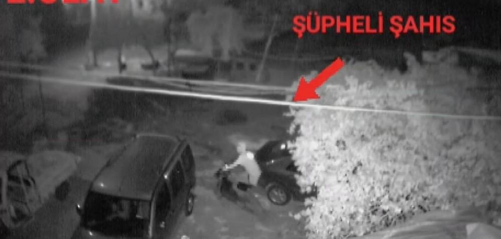 Motosiklet hırsızı kamerada