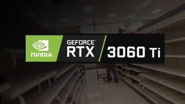 GeForce RTX 3060を中心に最大50%減産へ。回復は最速で9月末以降