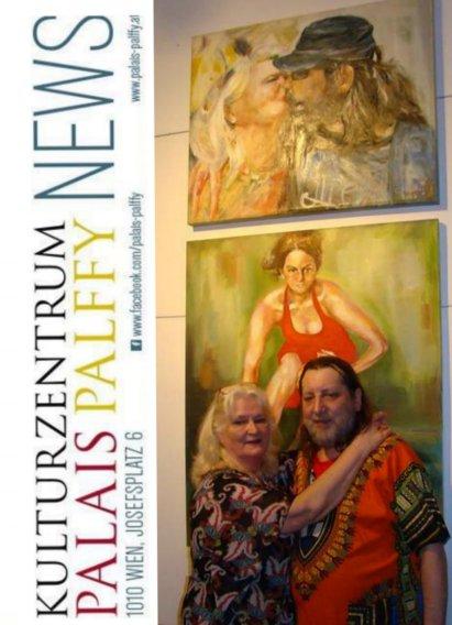 Joe Leitner & Traudi, Vernissage, 20.02.2017. © Palais Pallffy Wien
