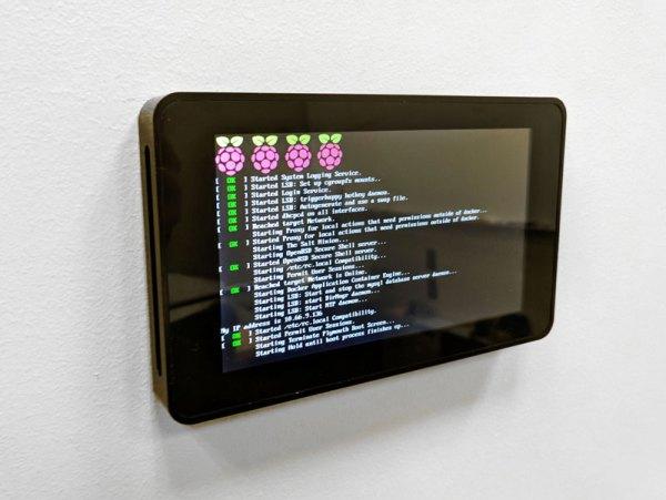 Professional Wall Mount for Raspberry Pi Touchscreen (Black Anodized Aluminum) | Gazouta Technologies