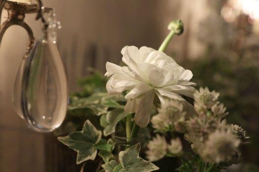 Détail de la decoration de fleurs pour l'événement