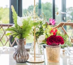 Décoration florale des tables