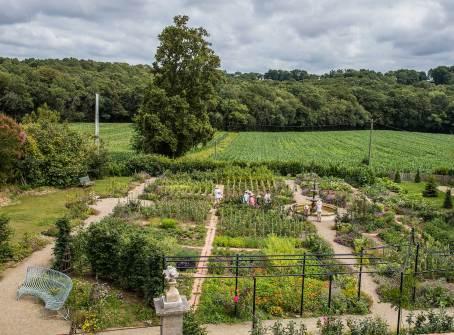Vue du jardin potager