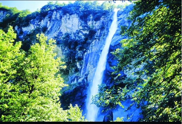 La cascata di Foroglio.