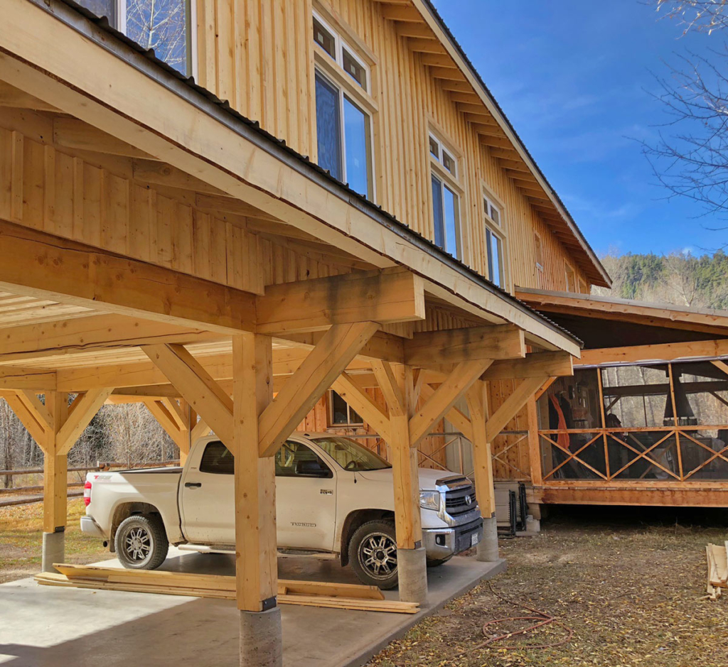 Gayla Bechtol Architect car port under cabin extension