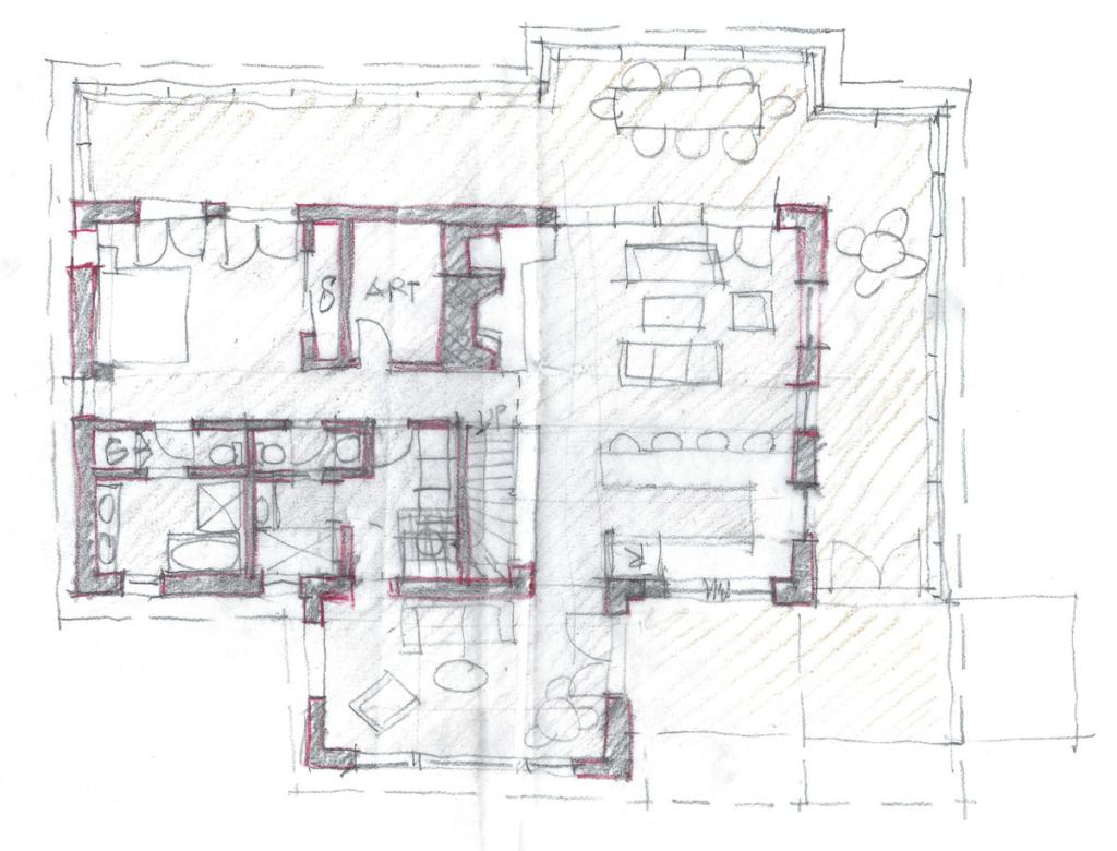 Floor plan family cabin colorado