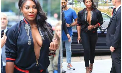 Serena Williams Steps Out Braless