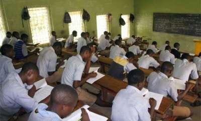 candidate writtind neco exam