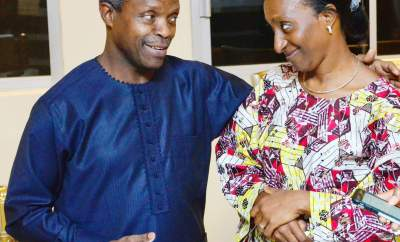 VP Yemi Osinbajo tells his wife, Dolapo,