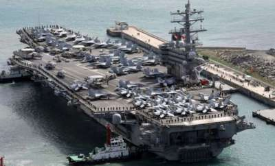 Kim Jong-Un US carriers in rare Pacific op amid North Korea tensions