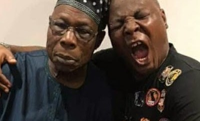 Charly Boy shares pics from his visit to Obasanjo