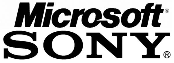 Microsoft Sony logos