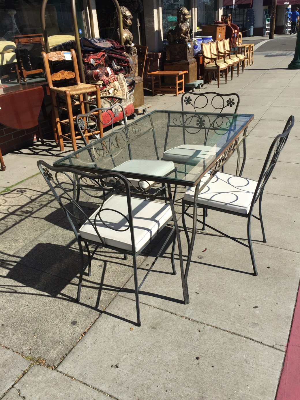 vintage wrought iron patio set by lee