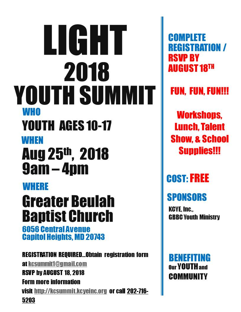 2018 Back to School Youth Summit