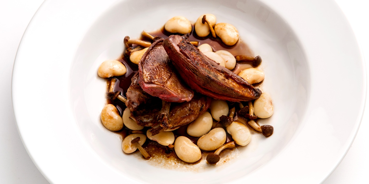 Roast Pigeon Recipe With Braised Butter Beans Great